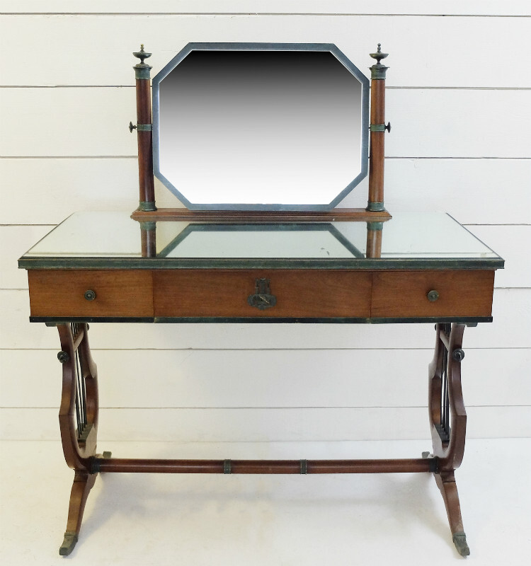 1940'S Vanity Table In Mahogany And Bronze