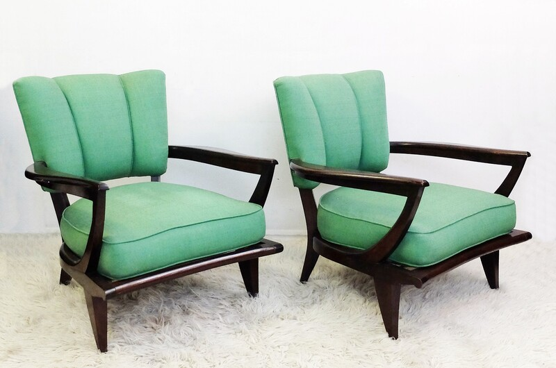 1950's French SK40 Armchairs by Etienne-Henri Martin for Steiner