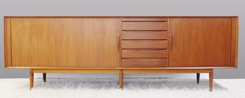1960s Teak Sideboard Designed by Arne Vodder for Sibast Møbler, Denmark