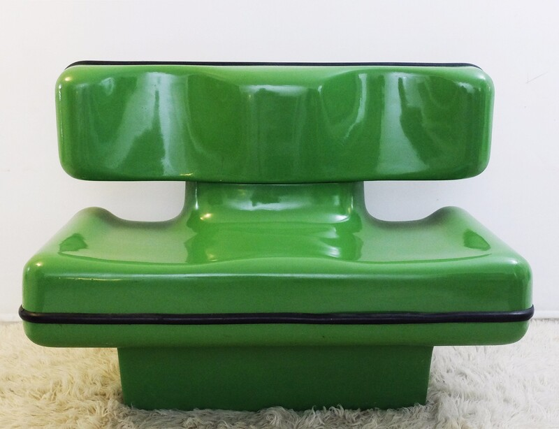 1970's Continuous Seats for Two by Dominique Prevot. France Design Edition.
