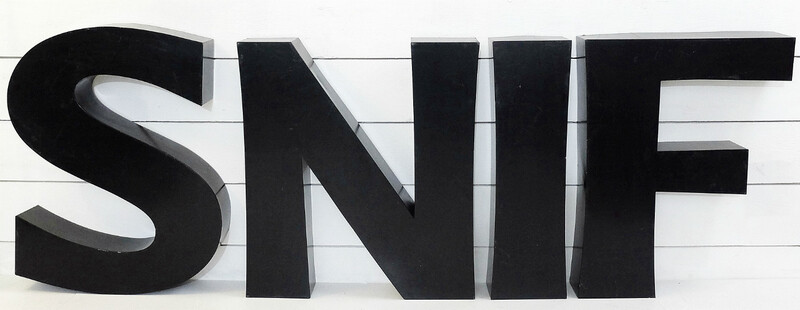26 Large metal letters