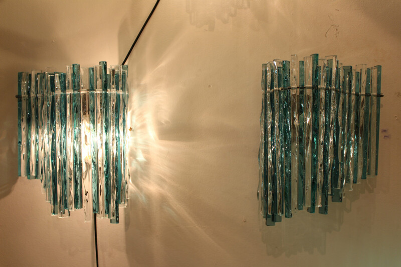 Pair of  B. Tirtiaux wall lamps