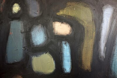 abstract painting on canvas by Braconnier - Art objects