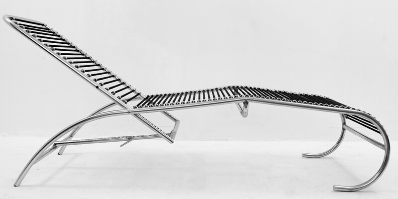 Adjustable Lounge Chair attributed to René Herbst