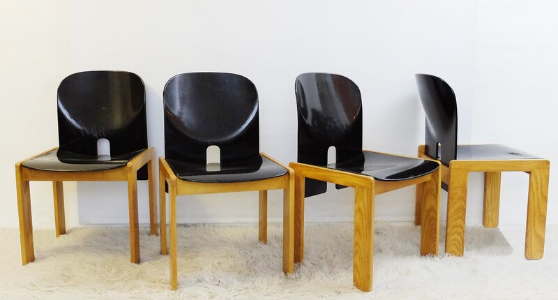 Afra and Tobia Scarpa Dining chairs n°121 - set of 4