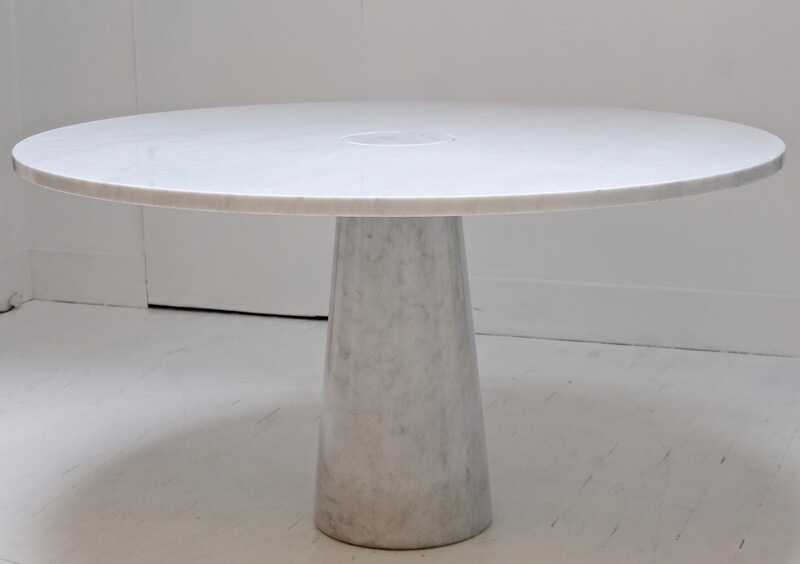 Angelo Mangiarotti Center Table In Carrara Marble - Circa 1970