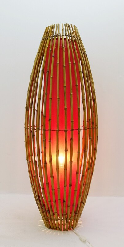 Bamboo floor lamp