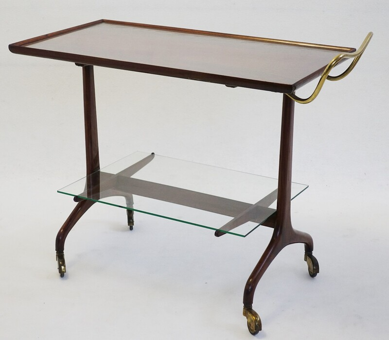 Bar Cart Attributed to Cesare Lacca, Italy, 1950s