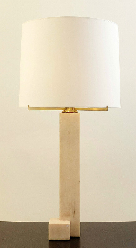 Belgian Marble Lamps by Jan Vlug