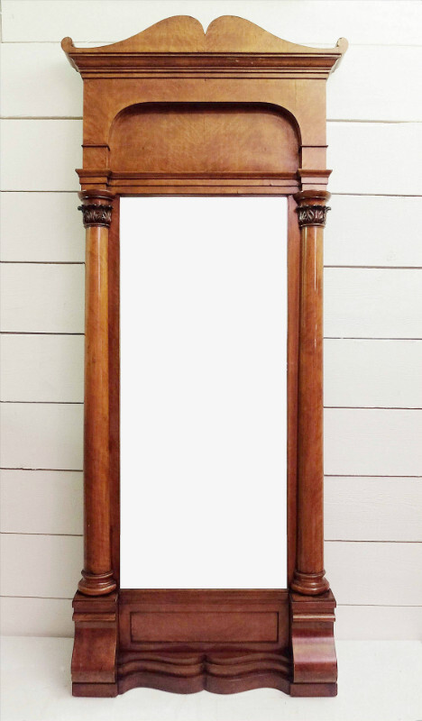 Biedermeier cherrywood mirror