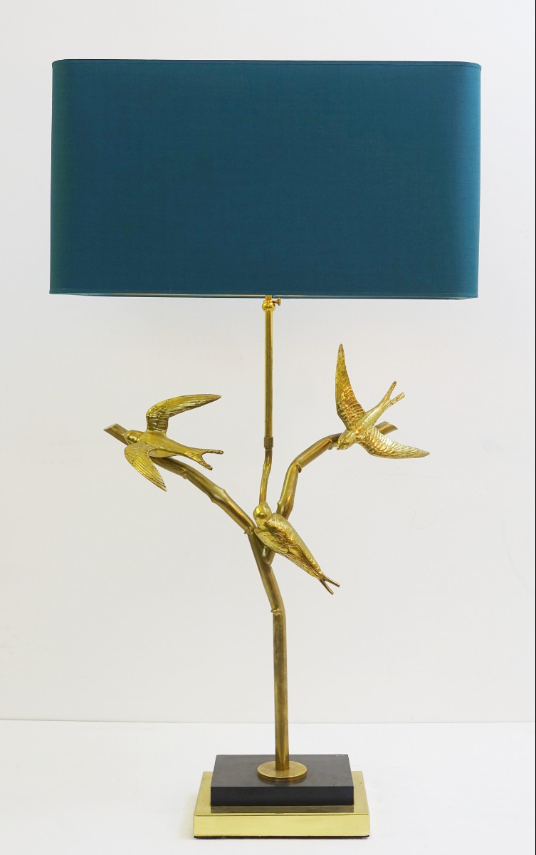 Birds On Branches Large Brass Table Lamp Via Antica Recent
