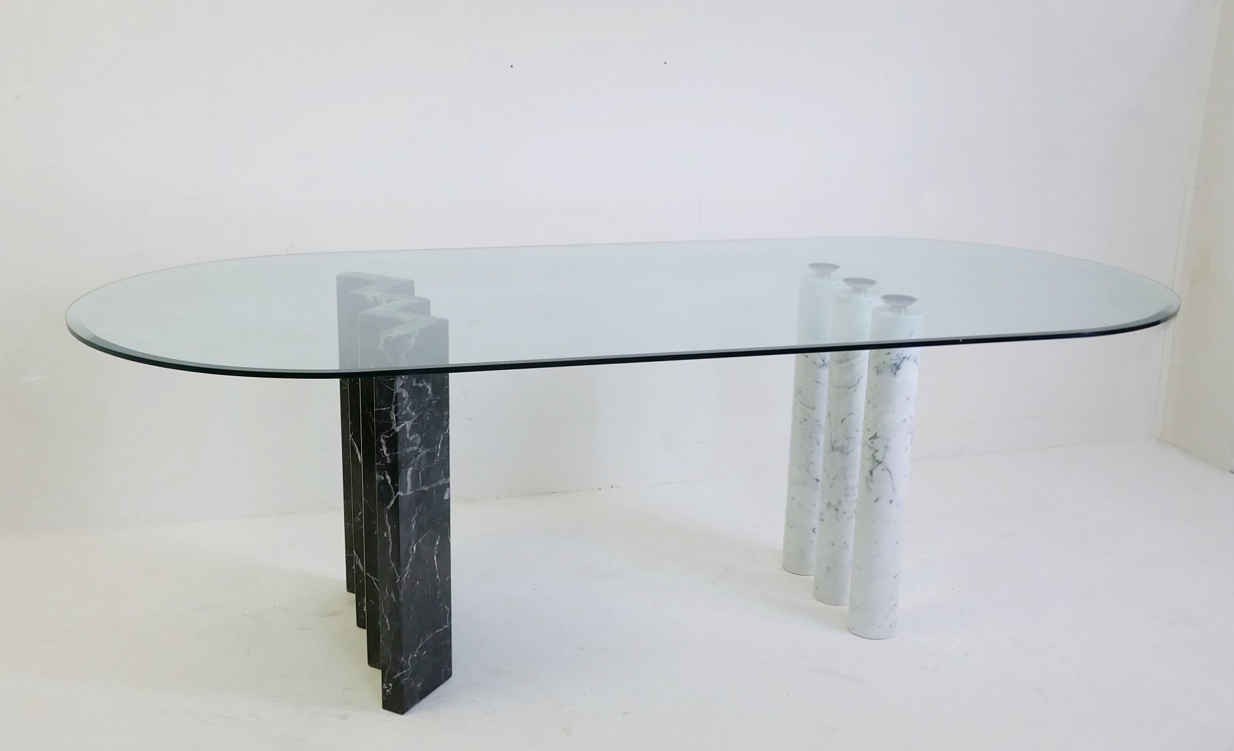 Black And White Marble Glass Top Dining Tables Desk Table