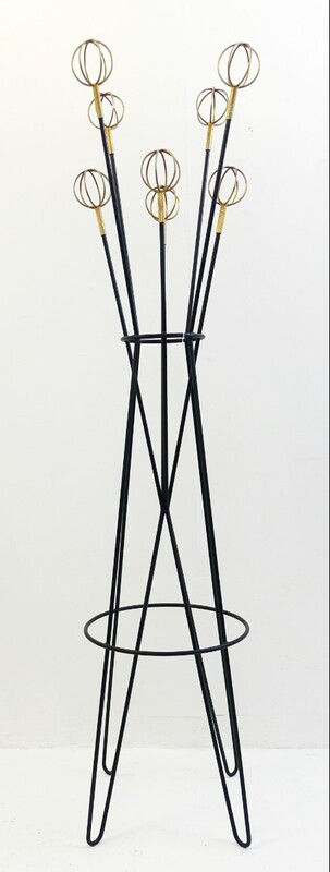 Black coat rack model Geo Astrolabe by Roger Feraud