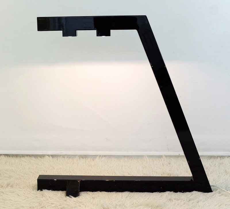 Black lacquered metal lamp 70'