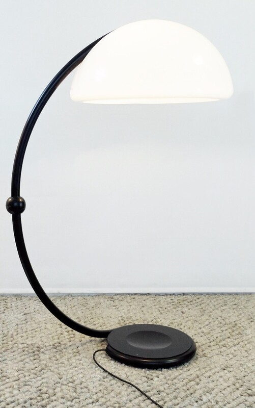 black Serpente Floor Lamp by Elio Martinelli for Martinelli Luce