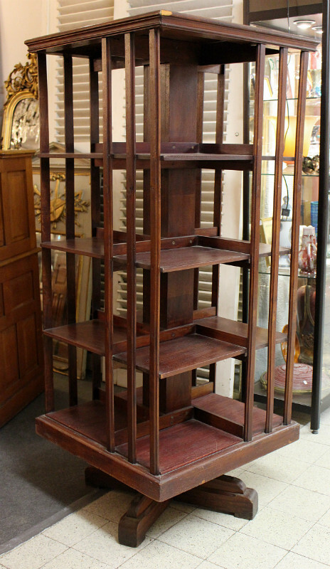 Bookcase, swivel base
