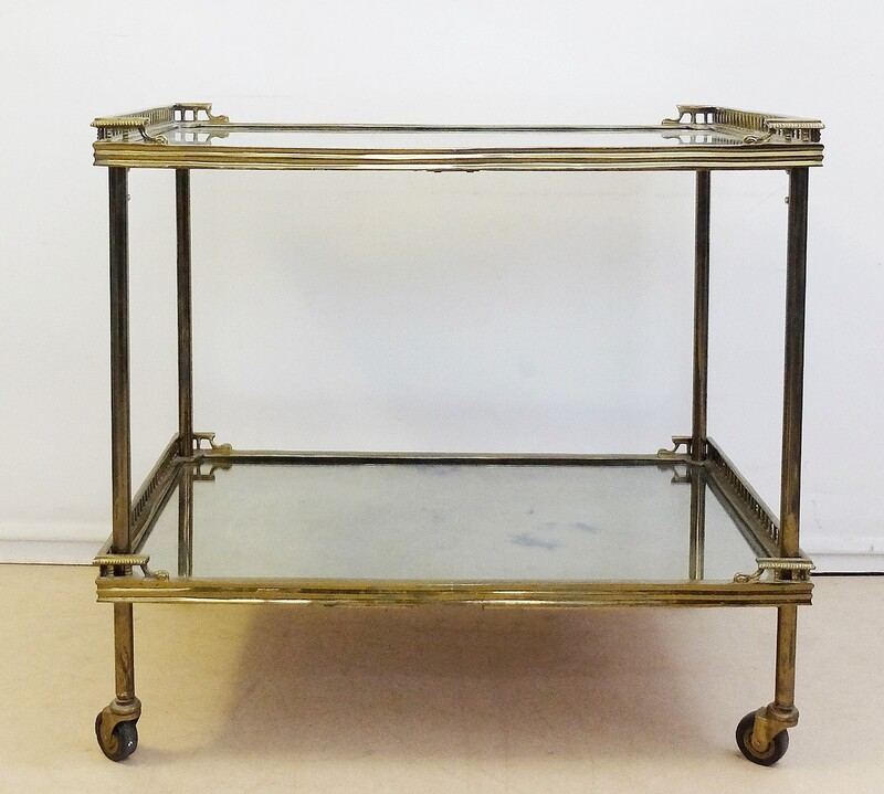 Brass and Mirror Trolley