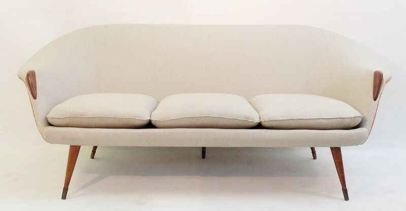 brass and teak danishsofa att to nanna ditzel - New Upholstery by Dörflinger & Nickow