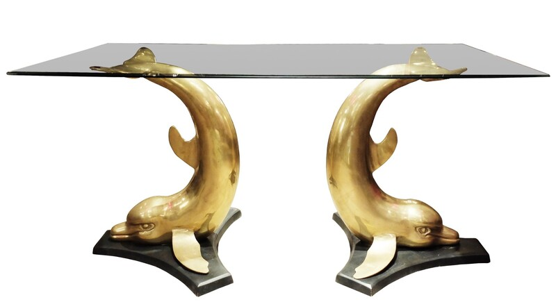 Brass Dolphin Dining Table