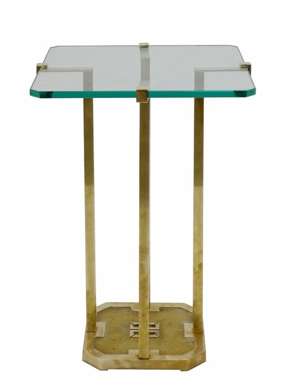 Brass Side Table By Peter Ghyczy