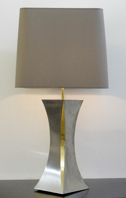 brushed aluminum table lamps