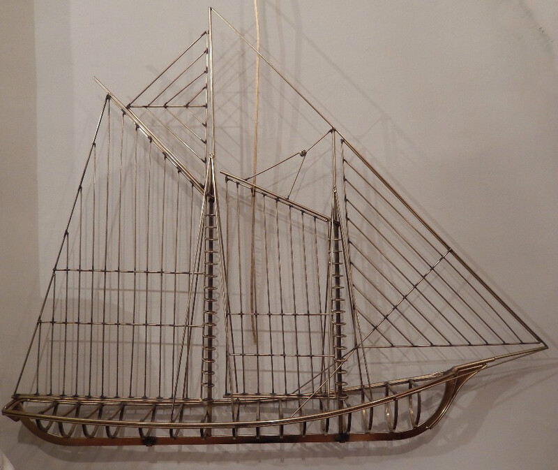 C. Jere boat sculpture, 1976