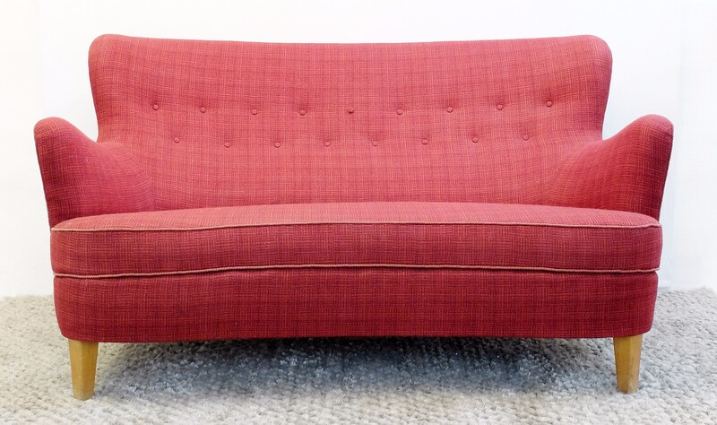 Carl Malmsten Sofa Model Samsas Produced by O.h Sjögren In Sweden