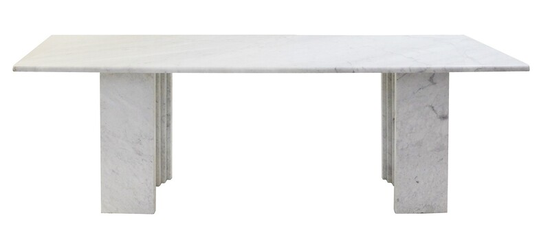 Carlo Scarpa Dining table in Carrara marble