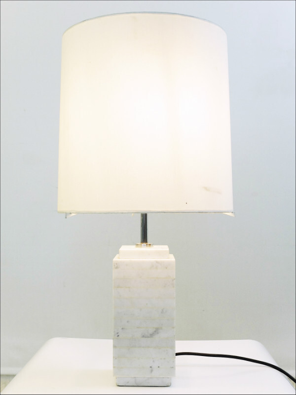Carrara Marble Table Lamp by Florence Knoll