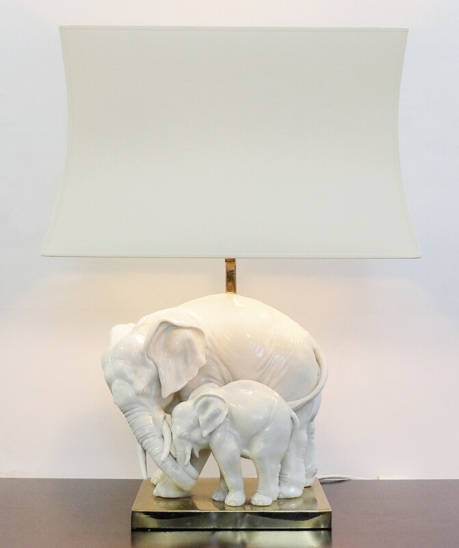 Ceramic Elephant Lamp