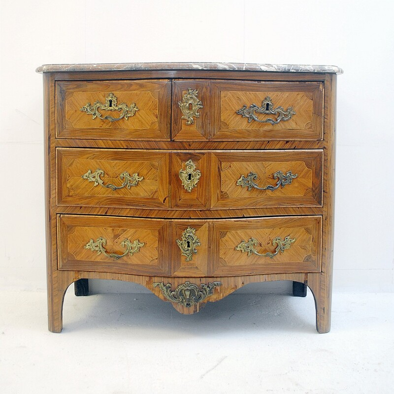 Chest of Drawers, Brass and Marble - 18th France