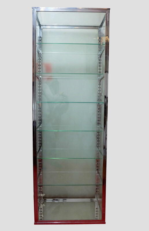 Chrome and Glass Display Cabinet