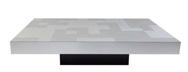 chrome brushed coffee table