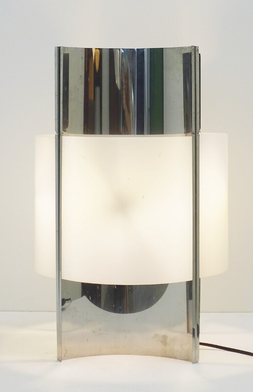 chrome & plexiglass table lamp