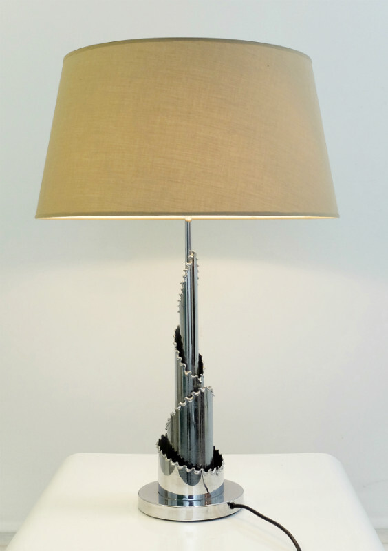 Chrome Table Lamp - c. 1970