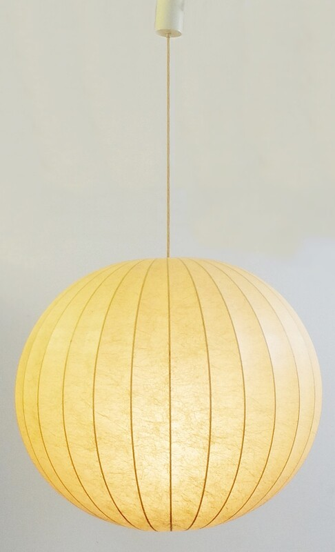 Cocoon hanging lamp by PG.Castiglioni & A.Giacomo Castiglioni for Flos, 1960s