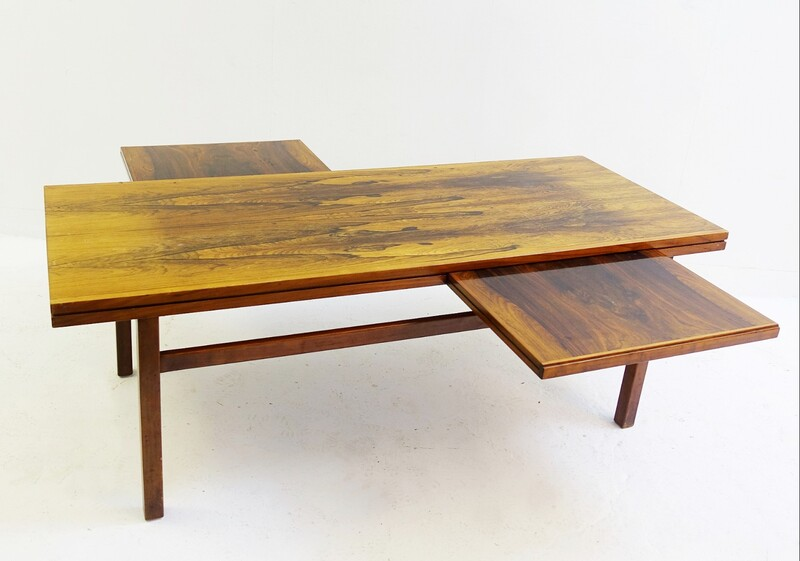 coffee table in rosewood with 2 with Pull-Out Trays