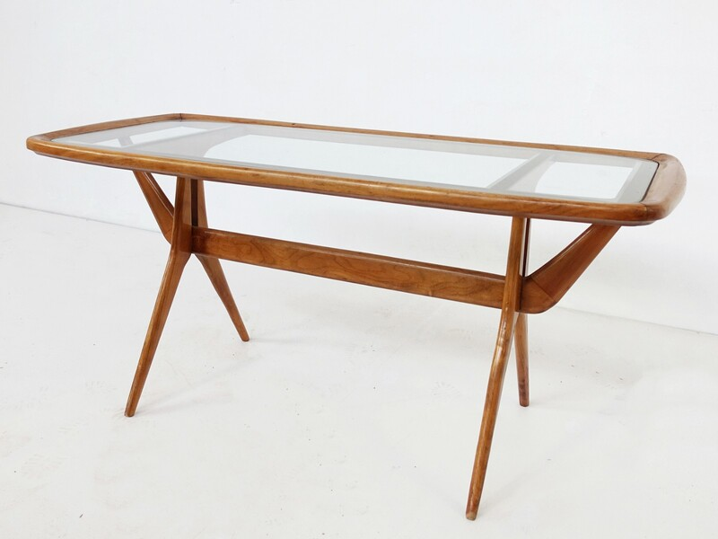 Coffee Table with Compass Legs, 1960s