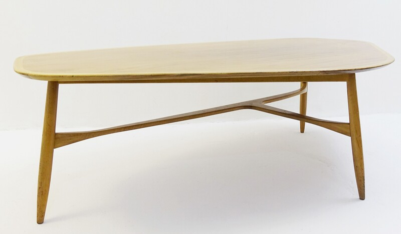 Coffee Table with Polished Blonde Teak Wood  by Laauser - swedish design