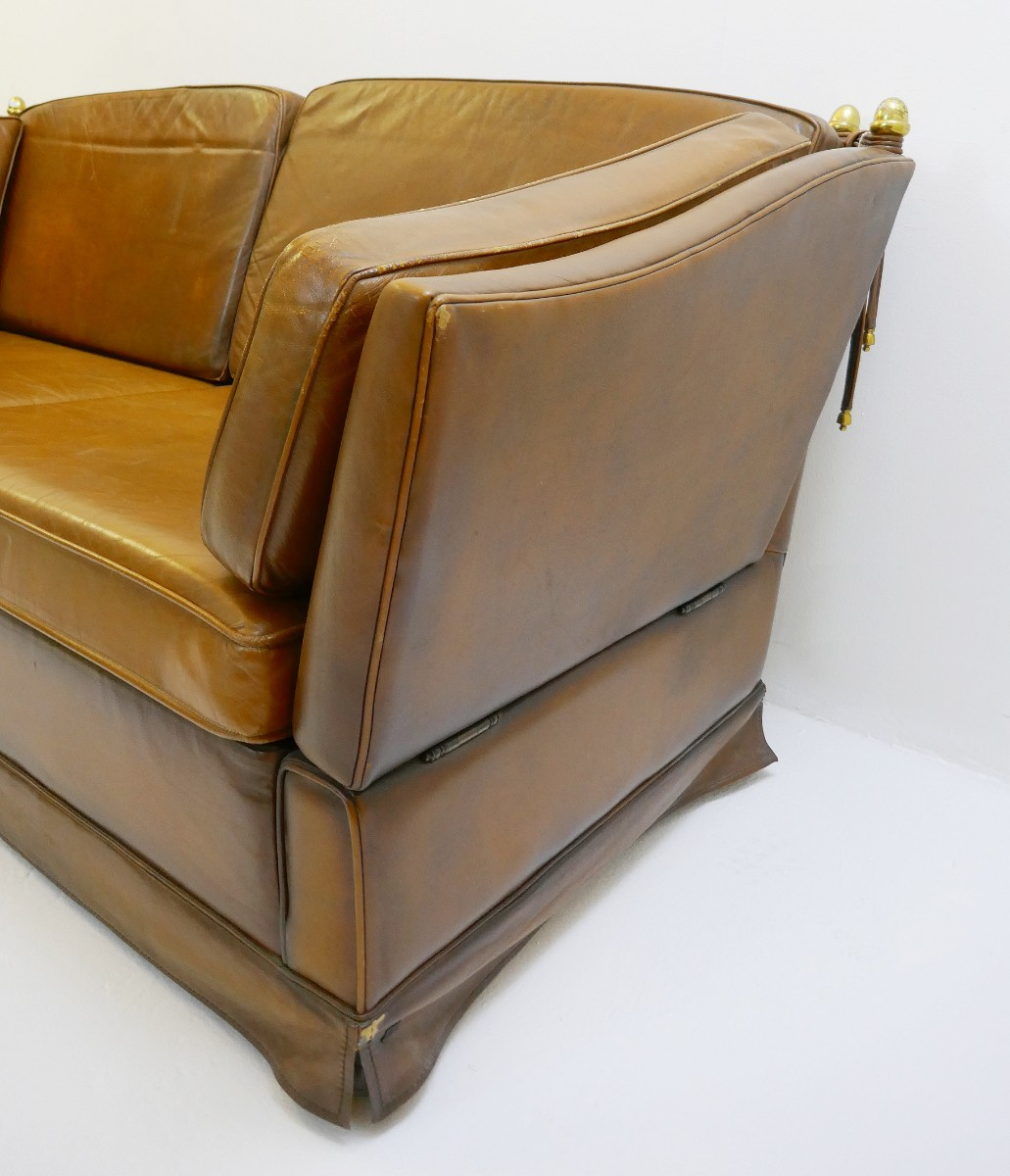 Amazing Cognac Leather Sofa In The Style Of Maison Jansen Via Bralicious Painted Fabric Chair Ideas Braliciousco