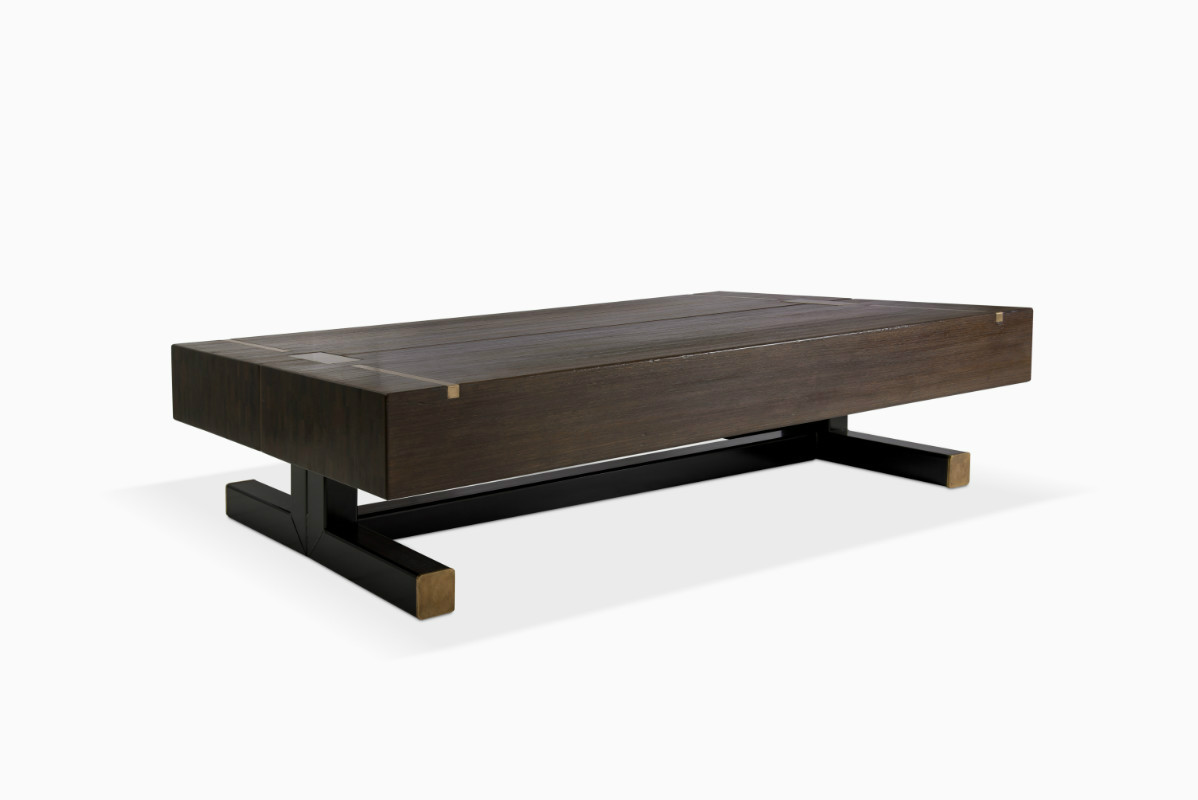 Contemporary Coffee Table Using A J Wabbes 1970 S Wenge End Grain