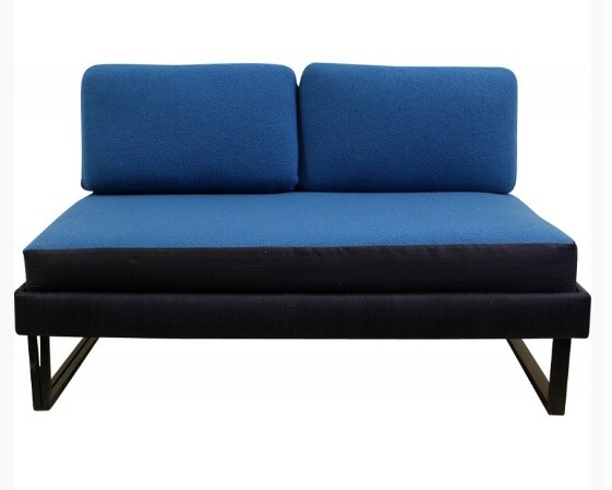 Convertible blue sofa