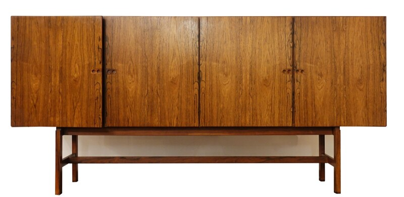 Danish sideboard in rosewood, designed by Arne Vodder in 1960.