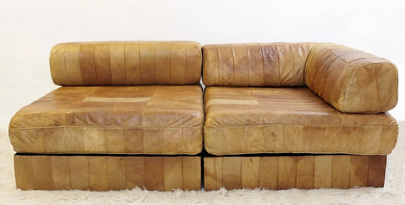 De Sede DS 88 leather patchwork sofa Switzerland 1970