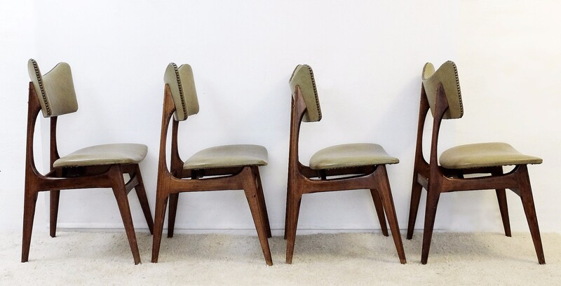 Dining Chairs by Alfred Hendrickx, 1950s, Set of 4
