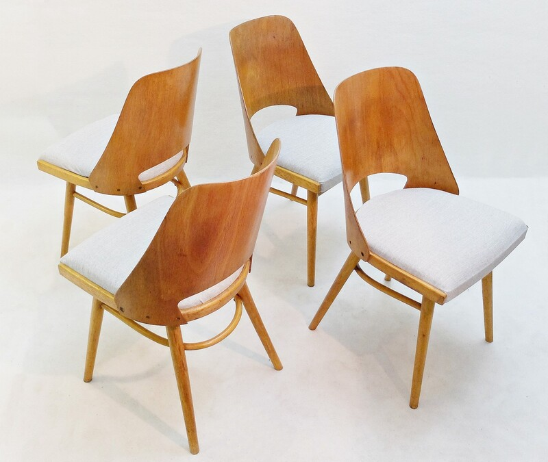 Dining Chairs by Oswald Haerdtl, Set of 4