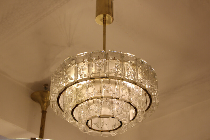 Doria brass and glass chandelier - c. 1960