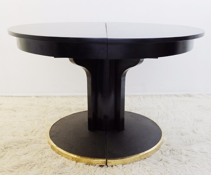 Early 20th Century Josef Hoffmann Black Lacquer Gueridon for Thonet, Vienna