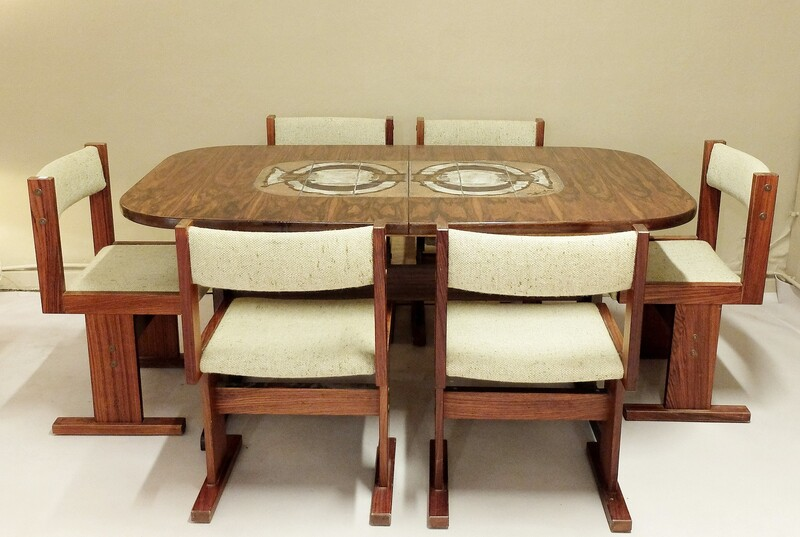 Extension Dining Tables + 6 chairs