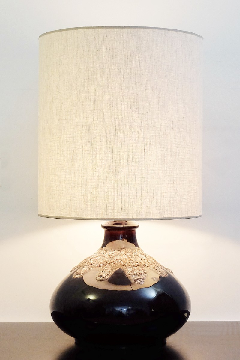 Fat lava brown ceramic table lamp via antica recent added items fat lava brown ceramic table lamp aloadofball Choice Image